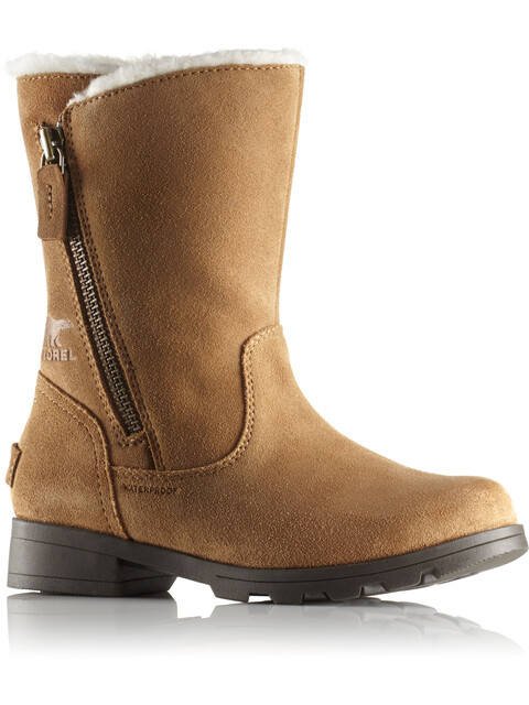 Sorel Youth Emelie Foldover Boots Camel Brown/Natural